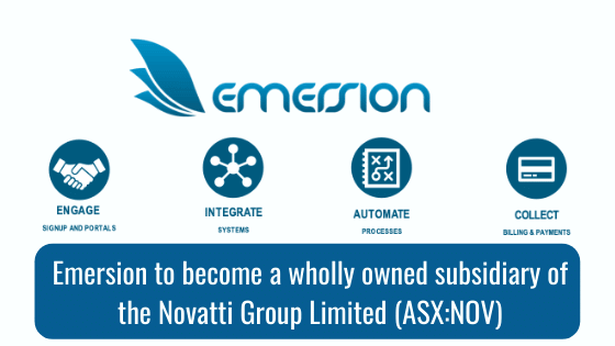 Emersion to become a wholly owned subsidiary of the Novatti Group Limited